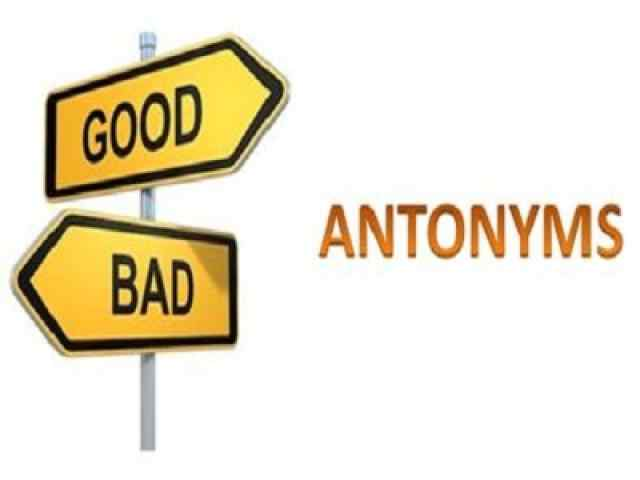 Antonyms multiple choice questions and answers