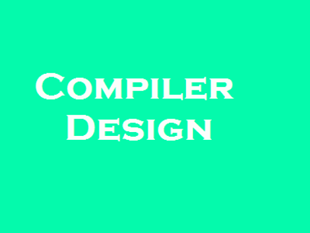 Compiler Design multiple choice questions and answers