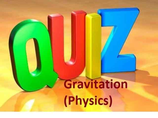 Gravitation multiple choice questions and answers